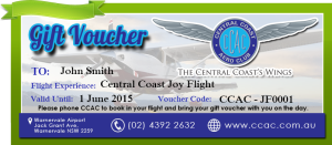 Central Coast Aero Club Gift Voucher